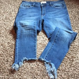 EVIDNT frayed skinny jeans